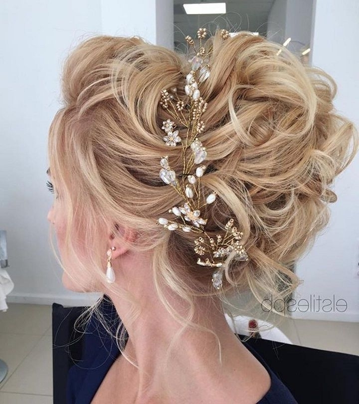 47 Messy Updo Hairstyles That You Can Wear Anytime, Anywhere Pertaining To Most Popular Messy Updo Hairstyles For Wedding (View 10 of 15)