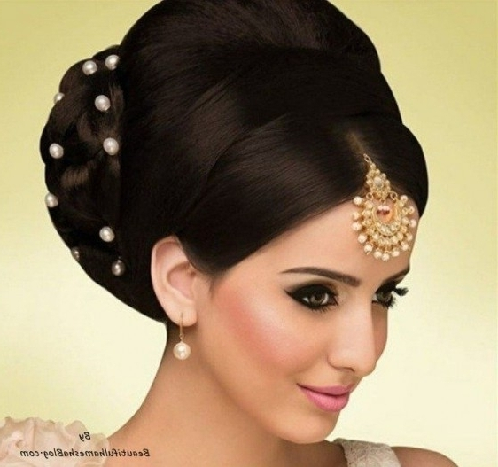 5 Best Indian Wedding Hairstyles For Most Phenomenal Updo Hairstyles Pertaining To Current Indian Updo Hairstyles (View 5 of 15)