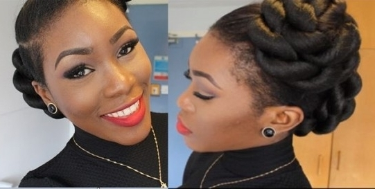 5 Cool Natural Updo Hairstyle Tutorials For Hot Summer Days Inside Inside Latest Natural Hair Updo Hairstyles With Kanekalon Hair (View 3 of 15)