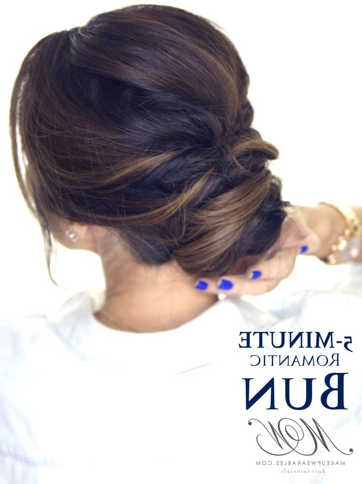 5 Minute Elegant Bun Hairstyle | Click To Watch | #hairstyles With Most Up To Date Easy Elegant Updo Hairstyles For Thin Hair (View 12 of 15)