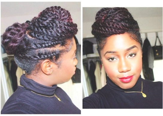 5 Simple Styles For Medium Length To Long Kinky Natural Hair – Bglh Inside Most Current Updos For Long Natural Hair (View 8 of 15)