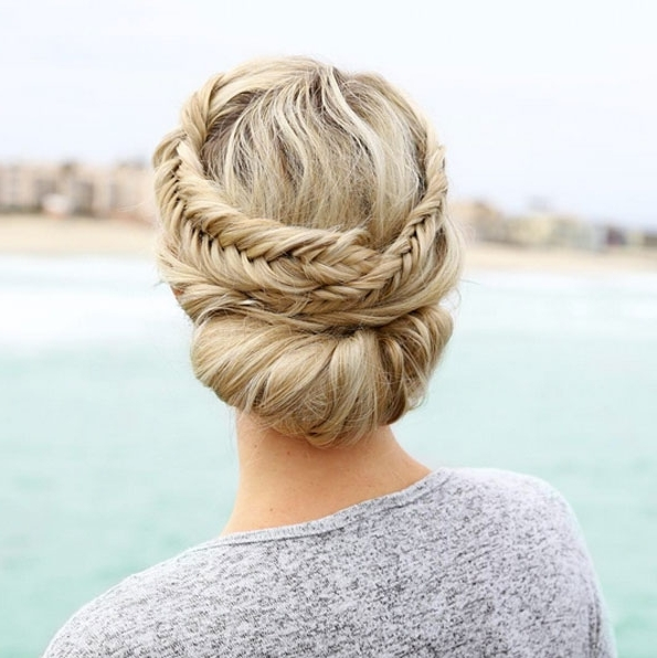 50 Amazing Updos For Medium Length Hair – Style Skinner Inside Current Updos For Medium Length Hair (View 11 of 15)