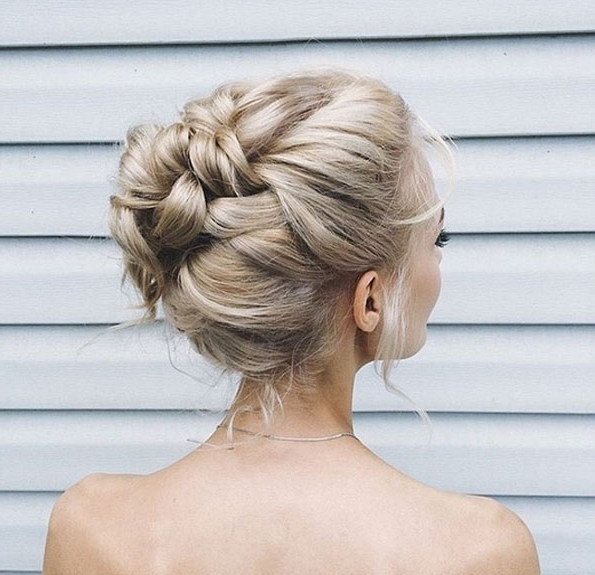 50 Amazing Updos For Medium Length Hair – Style Skinner Within Latest High Updo Hairstyles For Medium Hair (View 8 of 15)