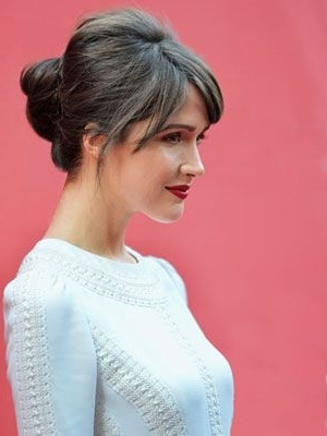 50 Beautiful Updo Hairstyles | Crown, Rose And Rose Byrne Throughout Latest Wispy Updo Hairstyles (View 15 of 15)