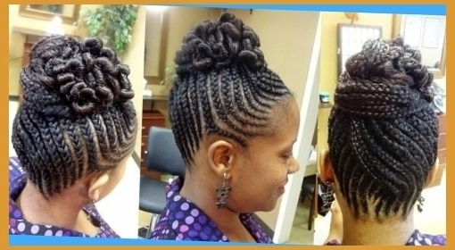 50 Best Black Braided Hairstyles To Charm Your Looks 2016 Throughout Best And Newest Black Braids Updo Hairstyles (View 15 of 15)
