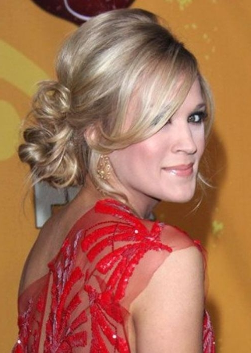 50 Best Updos For Medium Hair   Herinterest/ In Most Recently Updos For Layered Hair With Bangs (View 9 of 15)