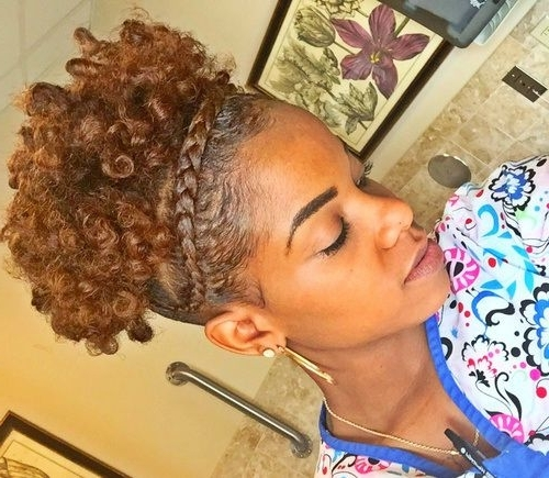 50 Cute Updos For Natural Hair | Short Natural Hair, Updo And Curly Throughout Most Recently Natural Curly Hair Updo Hairstyles (View 12 of 15)