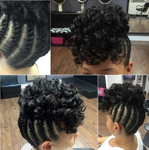 50 Easy And Showy Protective Hairstyles For Natural Hair | Black Regarding Most Recently Braided Updo Hairstyles For Natural Hair (View 5 of 15)