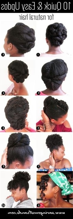 50 Easy And Showy Protective Hairstyles For Natural Hair   Simple Regarding Most Recent Quick Updo Hairstyles For Natural Black Hair (View 15 of 15)
