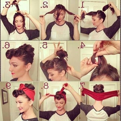 50 Easy Vintage Hairstyles For Glamourous Women – Hairstylecamp With Newest Easy Vintage Updo Hairstyles (View 6 of 15)