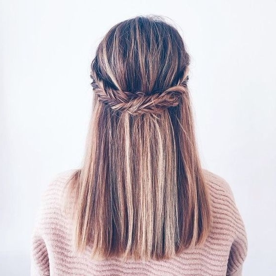 50 Hottest Straight Hairstyles For Short, Medium, Long Hair (& Color Regarding Most Up To Date Straight Hair Updo Hairstyles (View 2 of 15)