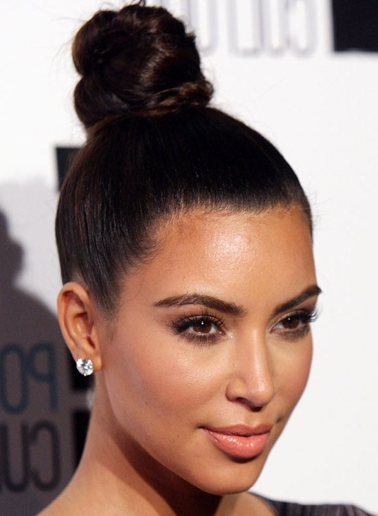 50 Lovely Bun Hairstyles For Long Hair With Regard To Best And Newest Updo Buns Hairstyles (View 6 of 15)