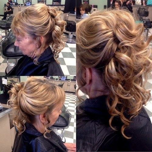 50 Ravishing Mother Of The Bride Hairstyles | Curly Hairstyles Within Most Current Updo Hairstyles For Mother Of The Groom (View 4 of 15)