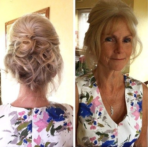 50 Ravishing Mother Of The Bride Hairstyles | Formal Updo, Updo And Throughout Recent Updo Hairstyles For Mother Of The Bride Medium Length Hair (View 3 of 15)