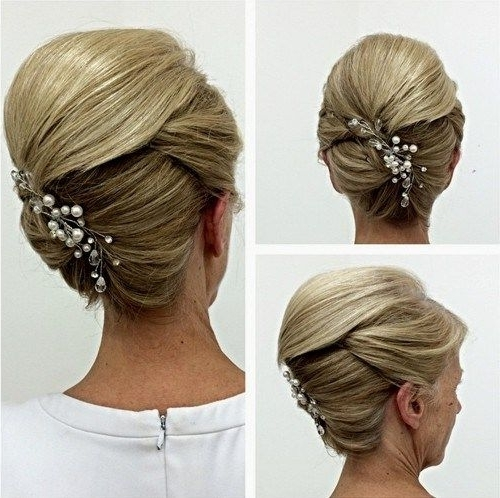 50 Ravishing Mother Of The Bride Hairstyles | Updo, Hair Style And Pertaining To Most Recently Updo Hairstyles For Mother Of The Bride Medium Length Hair (View 9 of 15)