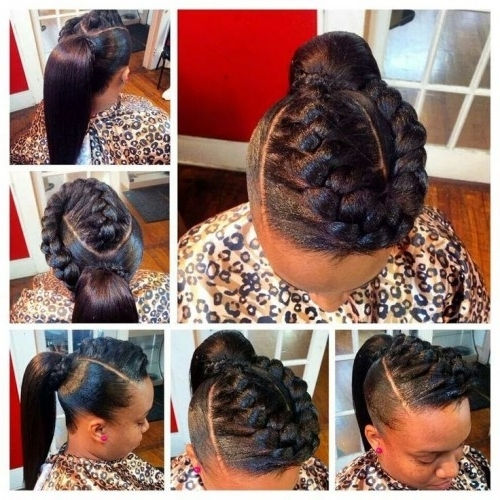50 Sew In Hairstyles For Black Women | Herinterest/ Intended For Newest Sew In Updo Hairstyles (View 2 of 15)