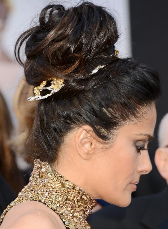 50 Super Easy Casual Hairstyles For Medium Hair In Most Up To Date High Updo Hairstyles For Medium Hair (View 4 of 15)