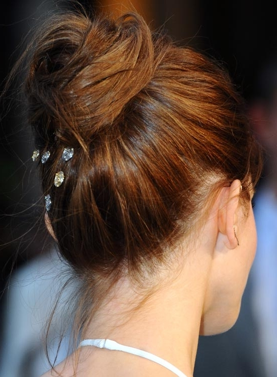 50 Super Easy Casual Hairstyles For Medium Hair With Regard To Best And Newest High Updo Hairstyles For Medium Hair (View 10 of 15)