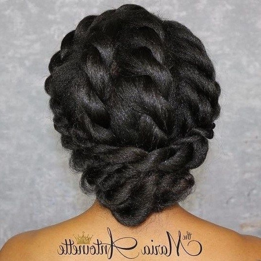 50 Superb Black Wedding Hairstyles | Black Hair, Updo And Elegant For Recent Black Natural Hair Updo Hairstyles (View 9 of 15)