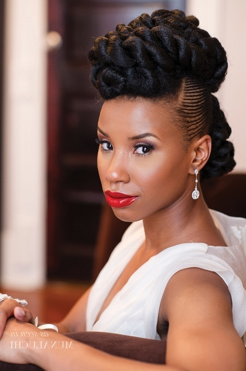 50 Superb Black Wedding Hairstyles | Natural Updo, Cornrows And Updo With Regard To Most Recently Natural Hair Updo Hairstyles For Weddings (View 7 of 15)