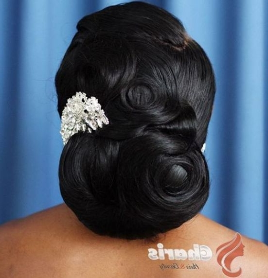 50 Superb Black Wedding Hairstyles | Thicker Hair, Updo And Hair Wedding With Regard To Most Recently Black Hair Updos For Weddings (View 7 of 15)
