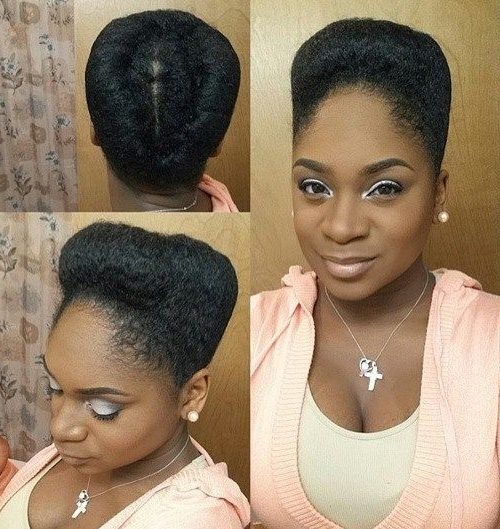 50 Updo Hairstyles For Black Women Ranging From Elegant To Eccentric Intended For Best And Newest Black Natural Hair Updo Hairstyles (View 10 of 15)