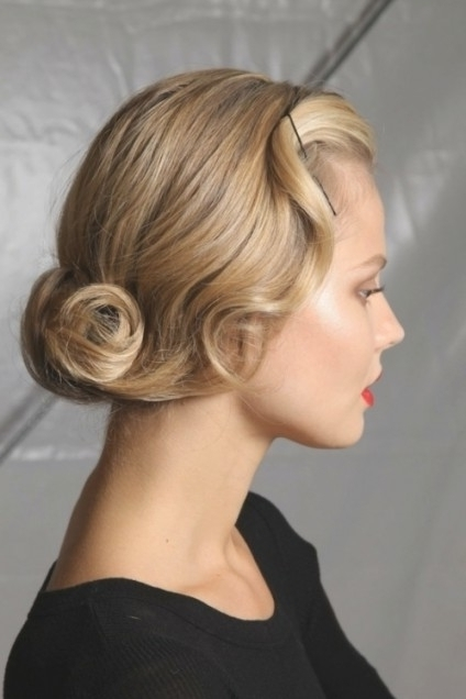 50's Glam Updo Within 50S Updo – Braiding Hairstyles Blog's With Most Current 50S Hairstyles Updos (View 9 of 15)