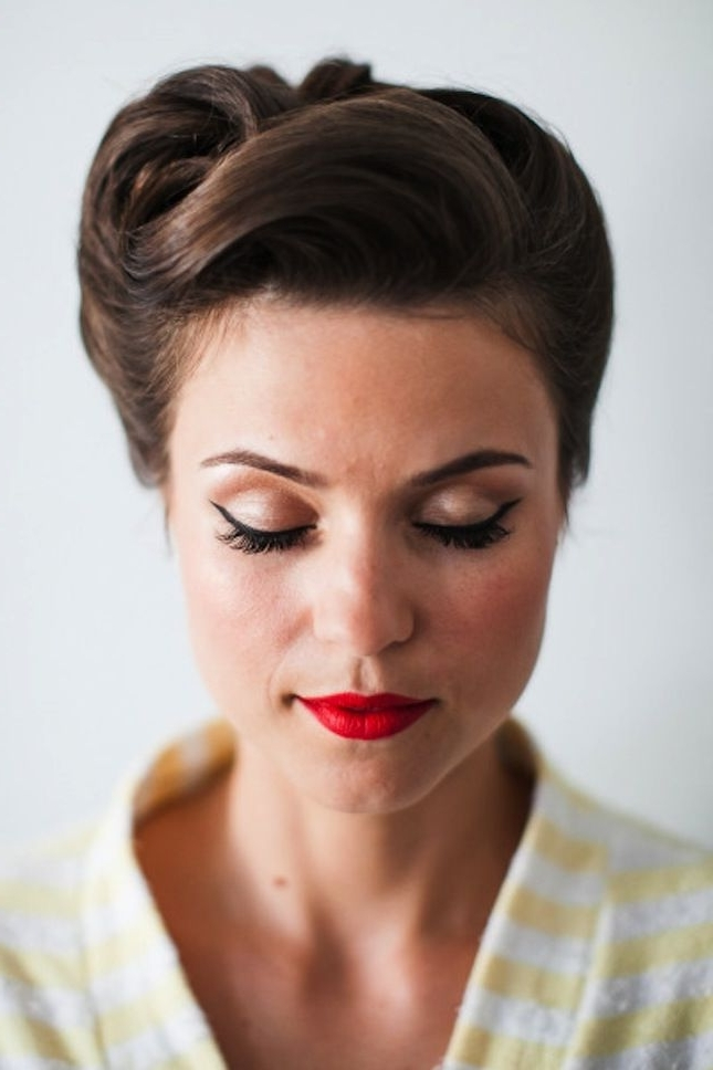 50's Style Hair 25 Best 1950S Updo Ideas On Pinterest 50S Hairstyles Pertaining To Best And Newest 50S Updo Hairstyles For Long Hair (View 7 of 15)