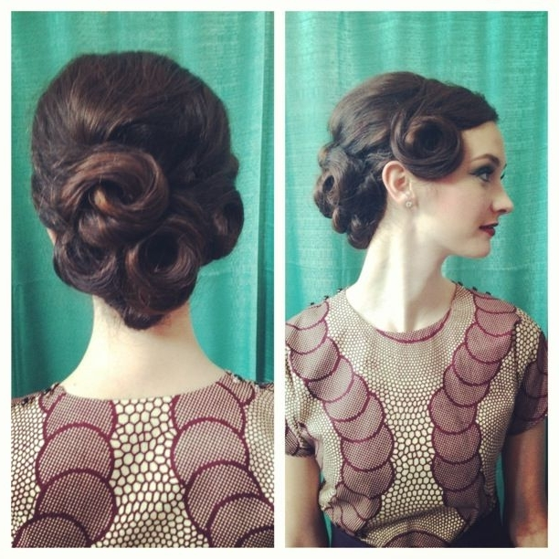 Showing Gallery Of 50s Updo Hairstyles For Long Hair View 10 Of 15