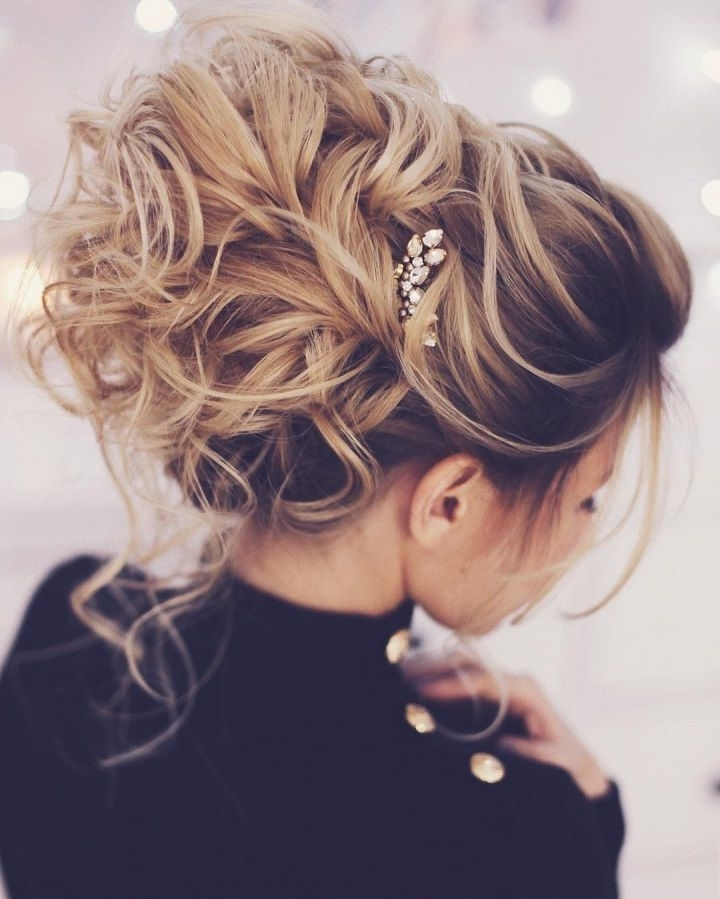 54 Simple Updos Wedding Hairstyles For Brides | Messy Wedding Updo Intended For Most Current Pretty Updo Hairstyles (View 7 of 15)