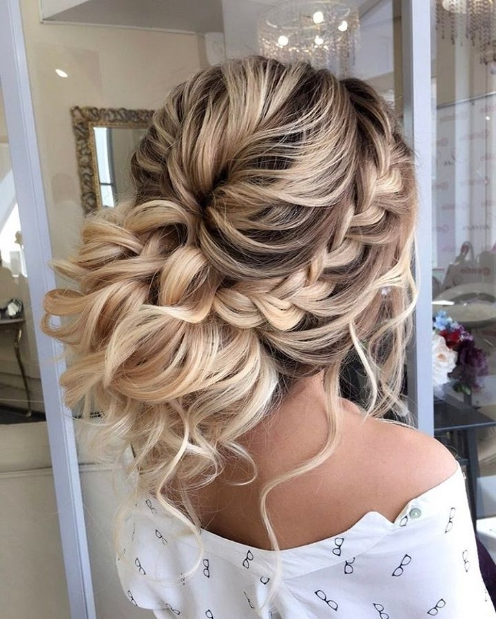 54 Updo Braided Wedding Hairstyles | Updos, Bridal Hairstyle And Wedding Pertaining To 2018 Braided Hair Updo Hairstyles (View 4 of 15)