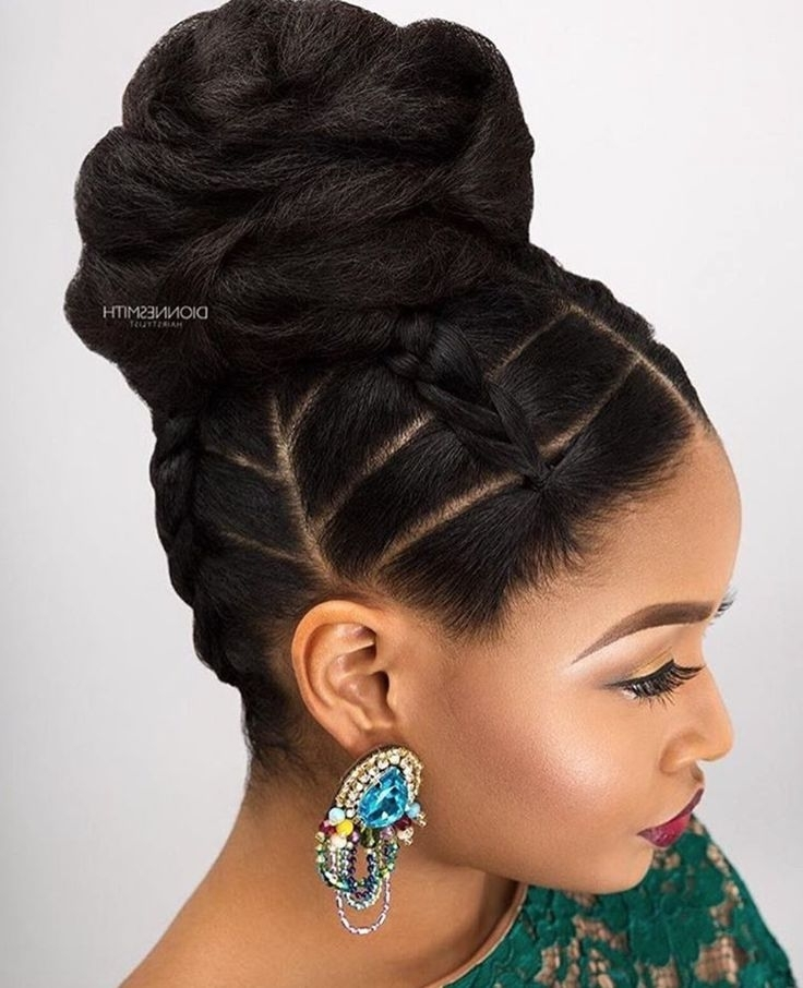 568 Best Updos Images On Pinterest | Natural Hair, Hair Dos And For Most Recently Updos For Black Hair (View 7 of 15)