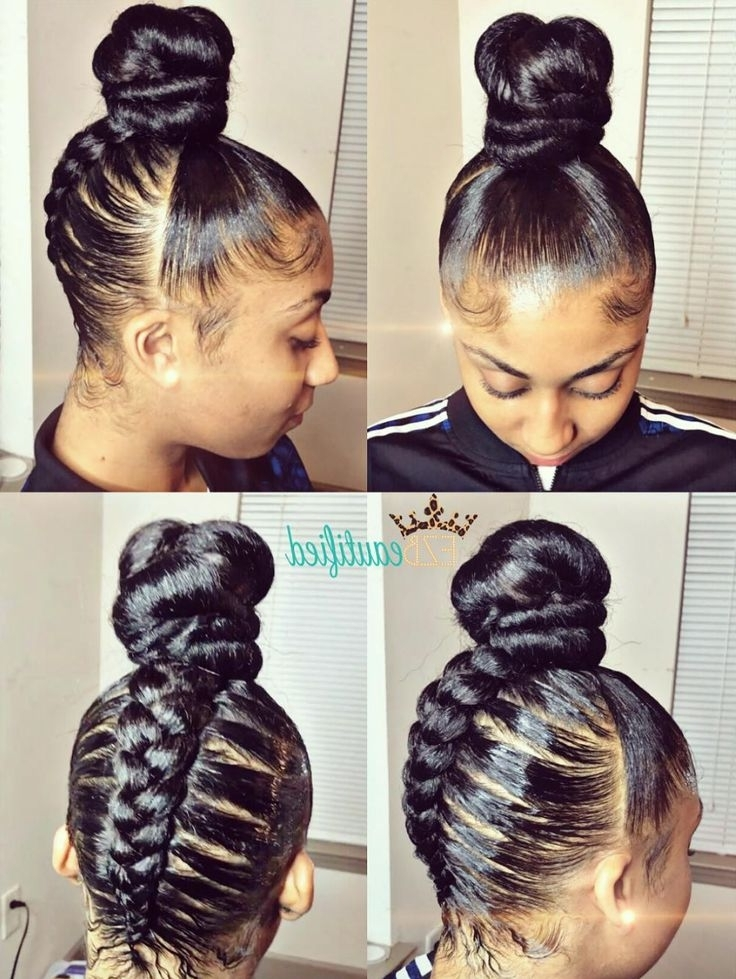 568 Best Updos Images On Pinterest | Natural Hair, Hair Dos And Regarding 2018 Updos For Long Hair Black Hair (View 4 of 15)