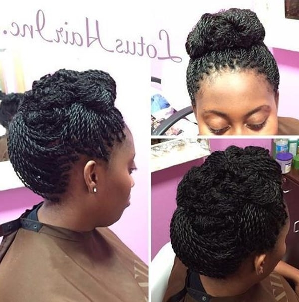 57 Pics Of Kinky Twist 'dos For Various Events & Vogues For Most Recently Braids And Twist Updo Hairstyles (View 6 of 15)