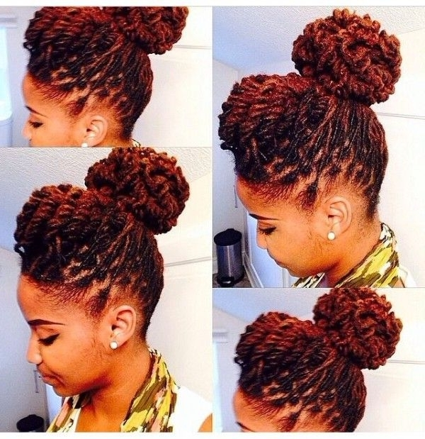 Displaying Gallery Of Dreadlock Updo Hairstyles View 14 Of 15 Photos