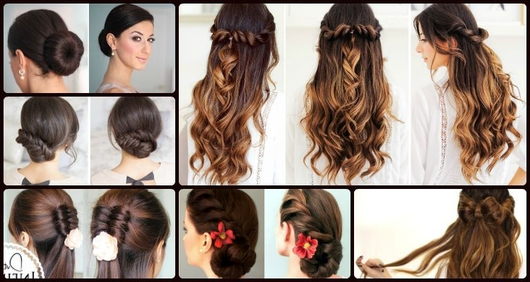 6 Elegant And Easy Updo And Half Updo Hairstyles That Can Never Go Wrong Regarding Best And Newest Easy Half Updo Hairstyles (View 9 of 15)