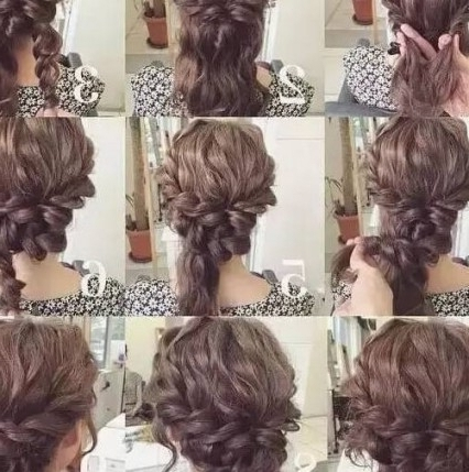 60 Diy Easy Updos For Medium Hair | Hair Motive Hair Motive Regarding Best And Newest Diy Updos For Curly Hair (View 8 of 15)