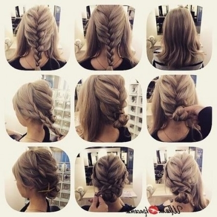 60 Diy Easy Updos For Medium Hair | Hair Motive Hair Motive Within Within Most Up To Date Easy Updos For Medium Hair (View 7 of 15)