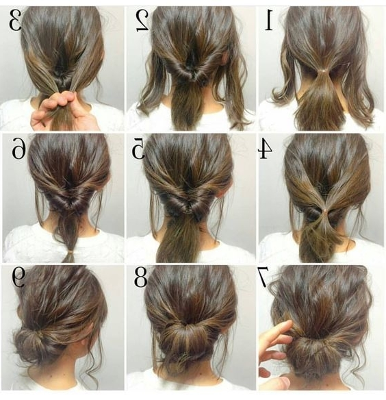 60 Easy Stepstep Hair Tutorials For Long, Medium And Short Hair With 2018 Quick Easy Short Updo Hairstyles (View 3 of 15)