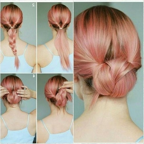 60 Easy Updos For Medium Length Hair About Bleach Hair Ideas With Most Recently Easy Updos For Medium Hair (View 8 of 15)