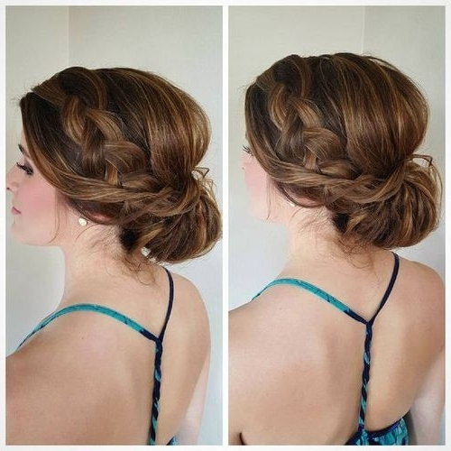 60 Easy Updos For Medium Length Hair Inside Most Up To Date Updos For Medium Hair (View 8 of 15)