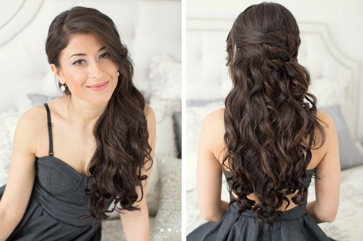 60 Prom Hairstyles For Long Hair, Medium Hair, Short Hair 2018 For Most Recently Wavy Hair Updo Hairstyles (View 8 of 15)