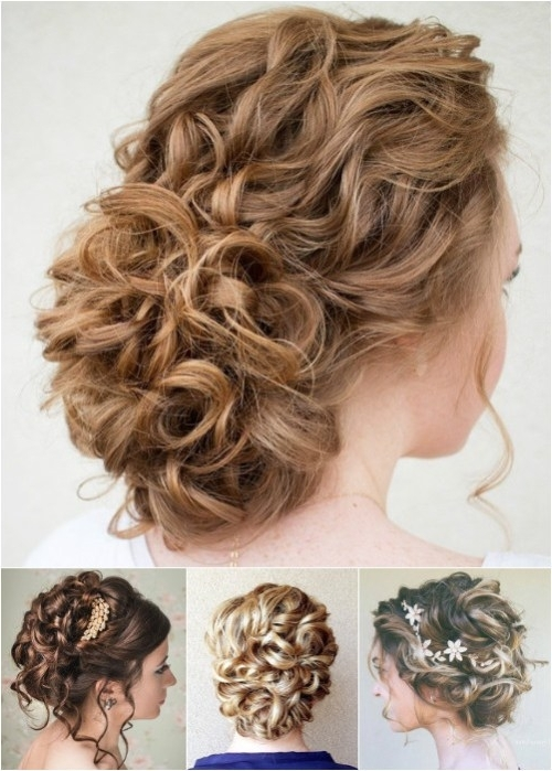 60 Trendiest Updos For Medium Length Hair | Medium Length Hairs In Latest Curly Updo Hairstyles For Medium Hair (View 4 of 15)