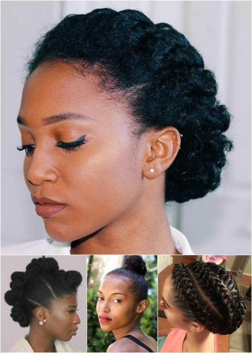 Featured Photo of Natural Hair Updos For Medium Hair