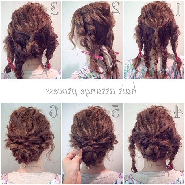 611 Best Hairstyles Images On Pinterest | Hairstyle Ideas, Hair In Current Easy Updo Hairstyles For Thick Hair (View 3 of 15)
