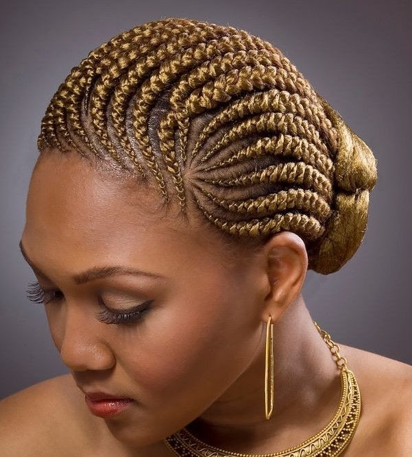 65 Best Hair Styles Images On Pinterest | Braided Hairstyles Within Latest Cornrow Updo Ponytail Hairstyles (View 3 of 15)