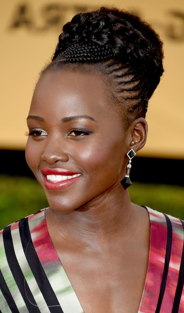 Explore Gallery Of Braided Updo Hairstyles For Black Hair Showing