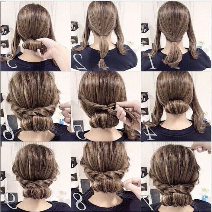 69 Best Hair Styles Images On Pinterest | Hairstyle Ideas, Easy In 2018 Elegant Updo Hairstyles For Short Hair (View 5 of 15)