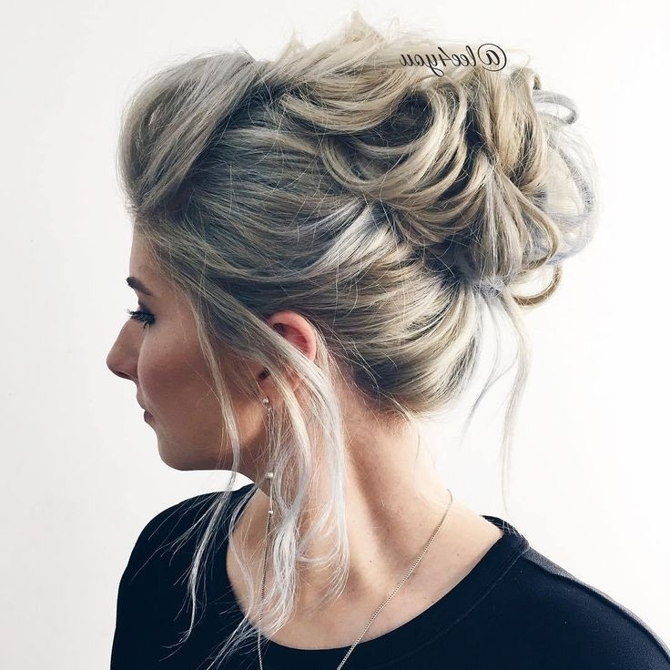 7 Best Fine Hair Upstyles Images On Pinterest | Wedding Hair Styles Throughout Most Current Messy Updo Hairstyles For Thin Hair (View 7 of 15)