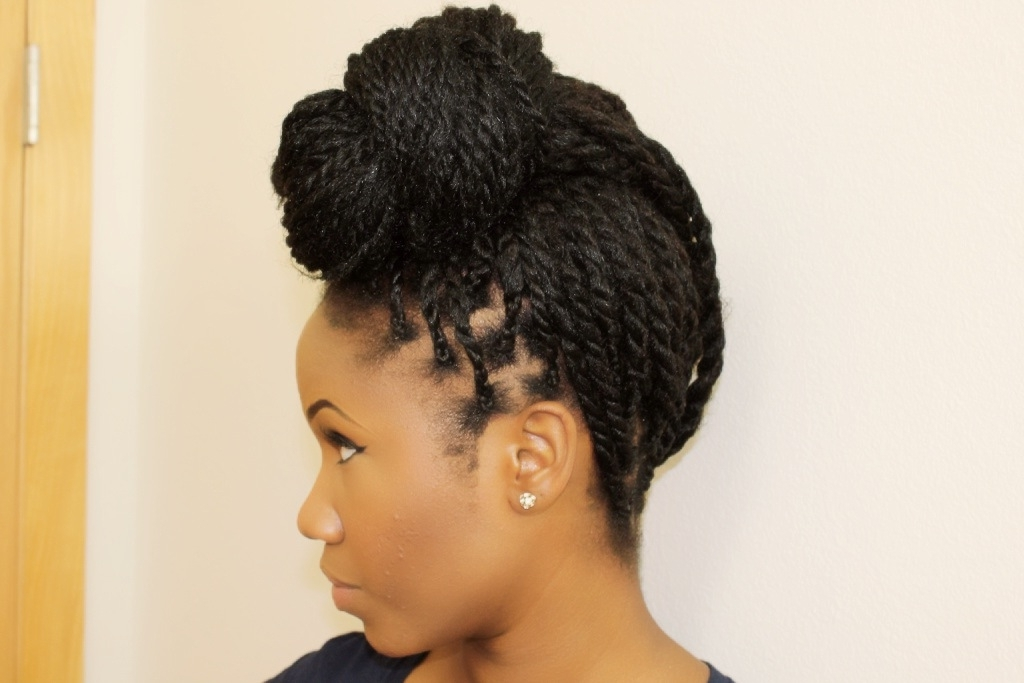 7 Easy Ways To Style Box Braids & Senegalese Twists | Curls Understood With Recent Single Braid Updo Hairstyles (View 6 of 15)